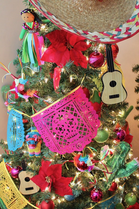 I knew my theme was meant to be this year when I happened upon some festive  piñata ornaments, chili peppers, cacti, and brightly colored bulbs at  Target ... - Feliz Navidad - Fiesta Themed Christmas Tree - LAURA'S Little PARTY