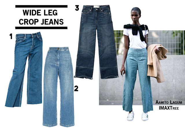 Wide Leg Crop Cropped Denim Jeans Aamito Lagum Trend Fall 2016
