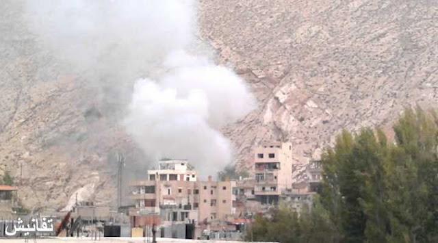 مروحيات النظام السوري تقصف بلدات وادي بردى