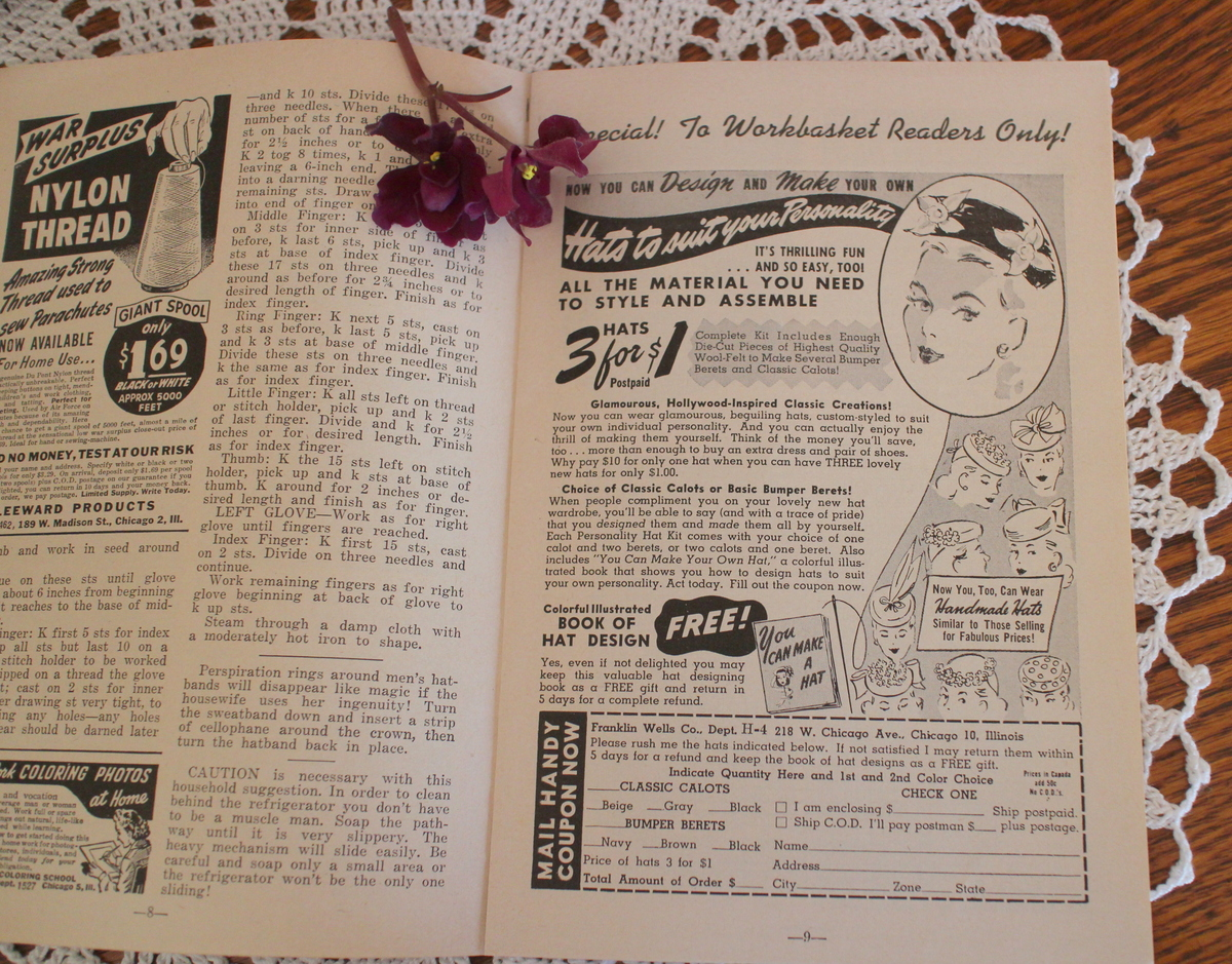 Lilacs and Springtime: The Workbasket Magazine