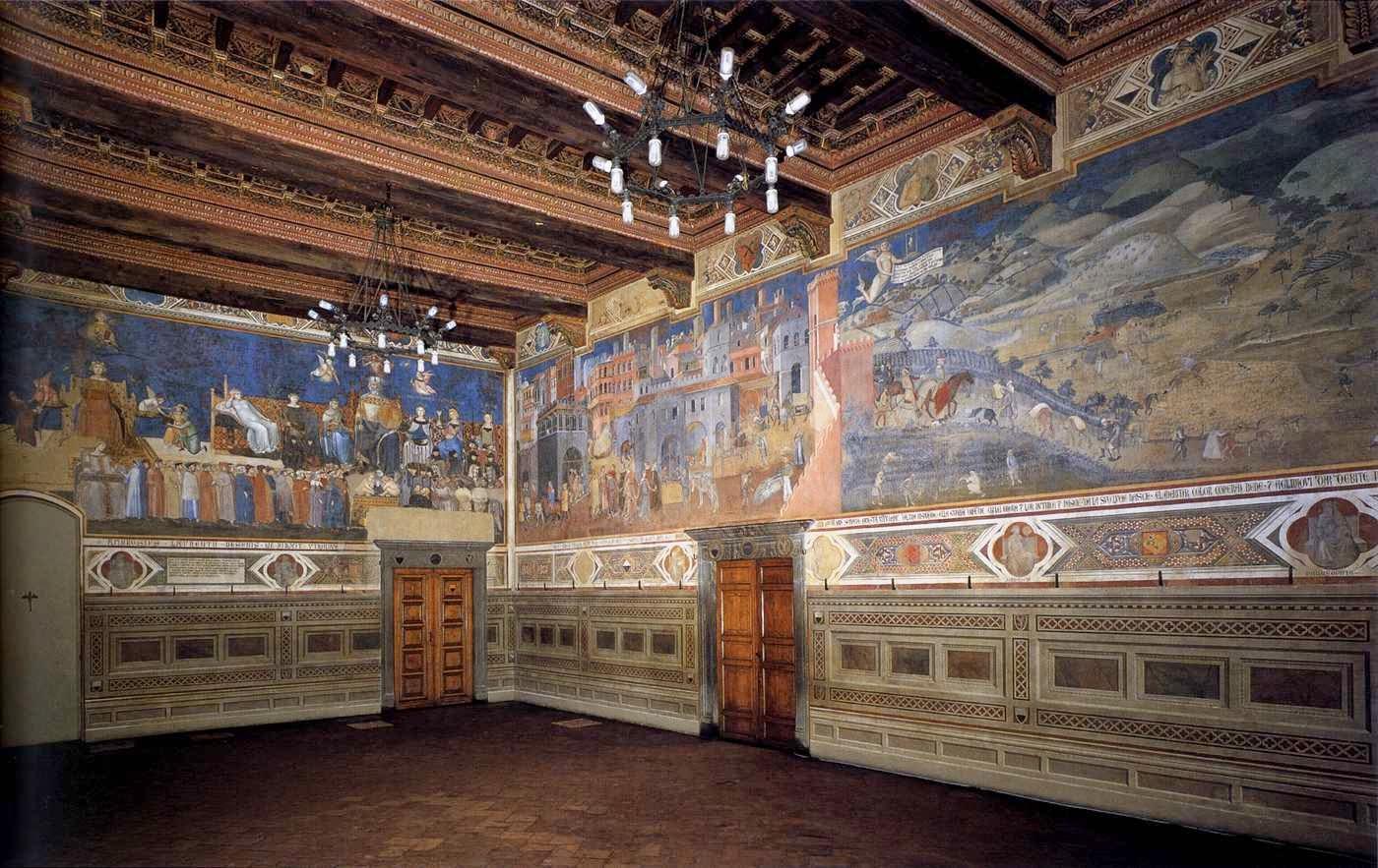 Sala Del Consiglio Dei Nove Siena.Le Muse Ambrogio Lorenzetti Siena 1290 Circa 1348