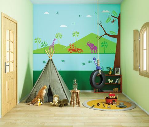 الوان حوائط غرفة اطفال