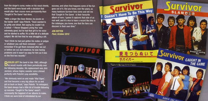 SURVIVOR - Caught In The Game [Rock Candy Remastered & Reloaded] booklet