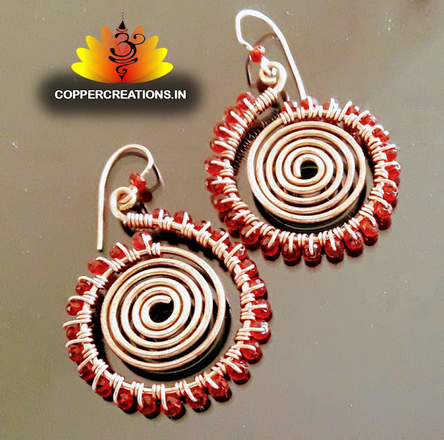 Copper Pendants, Copper Wire Ear Rings,Copper Creations