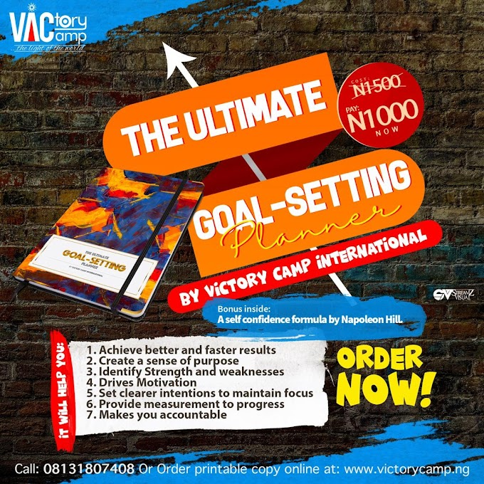 The ultimate Goal setting planner by Victory Camp International