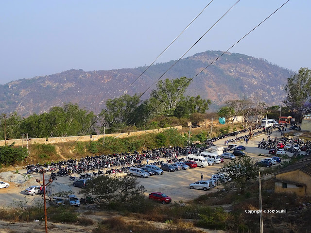 Parking Area of Nandi Hills, Bangalore
