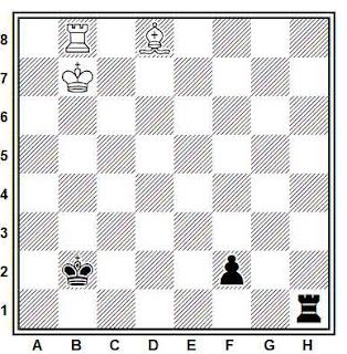 Estudio artístico de ajedrez compuesto por H. M. Lommer (L'Italia Scacchistica, 1933)