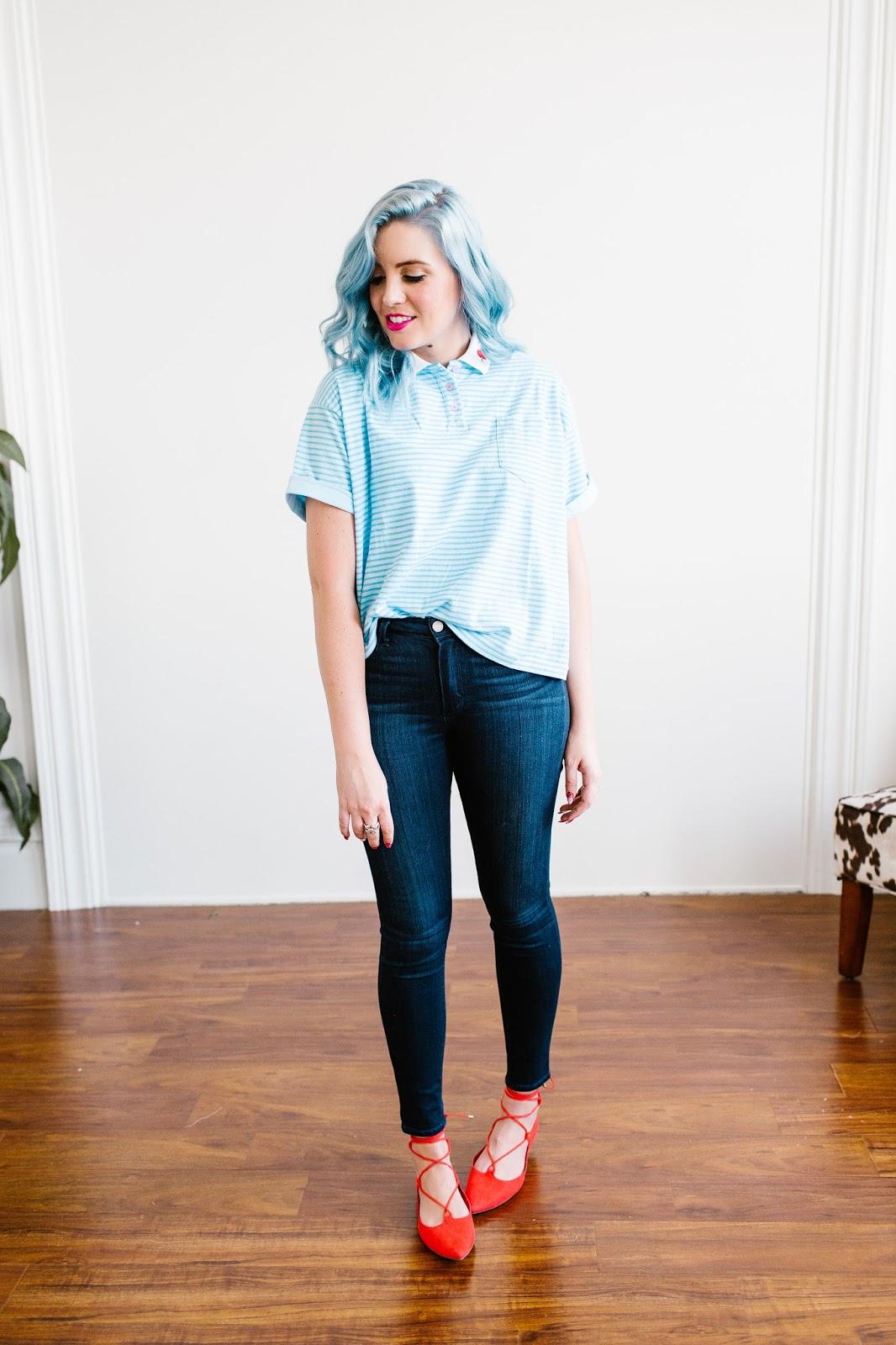 Red Flats, Paige Denim, Paige Jeans