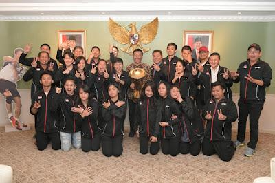 Sambut Juara Bulutangkis Beregu Asia 2018, Menpora Beri Bonus Tim Indonesia Rp 5 Miliar - Info Presiden Jokowi Dan Pemerintah