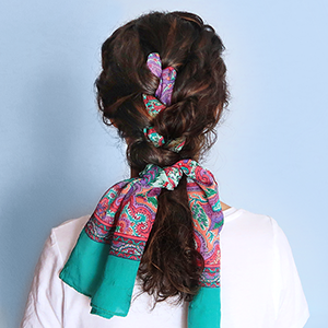 DIY Scarf French Braid