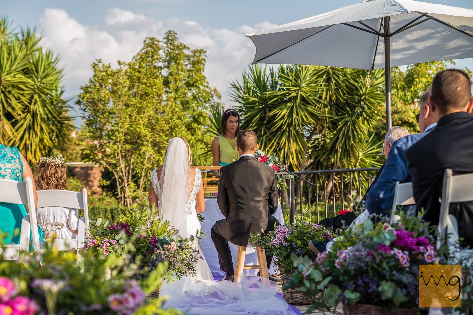 La fotografía de las declaraciones en la boda