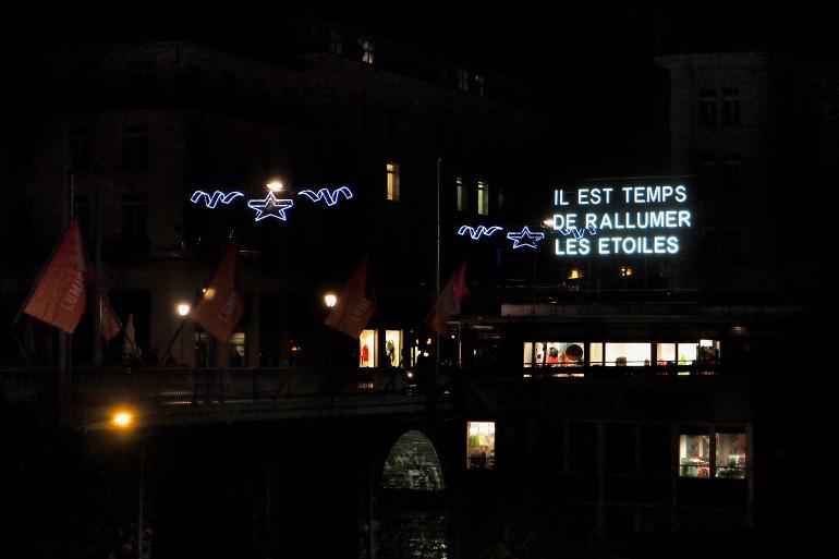 Festival des lumières à Lausanne en Suisse