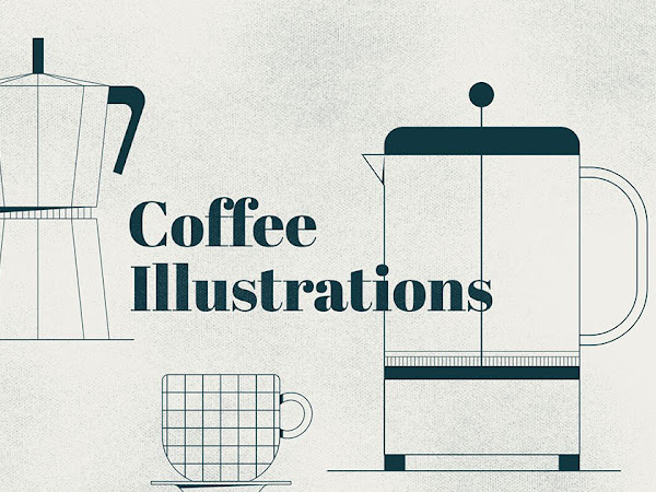 Download Outline Coffee illustrations Pack Free