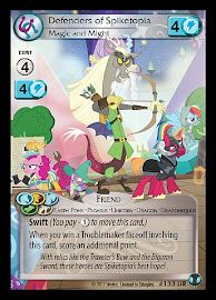 My Little Pony Defenders of Spiketopia, Magic and Might Defenders of Equestria CCG Card