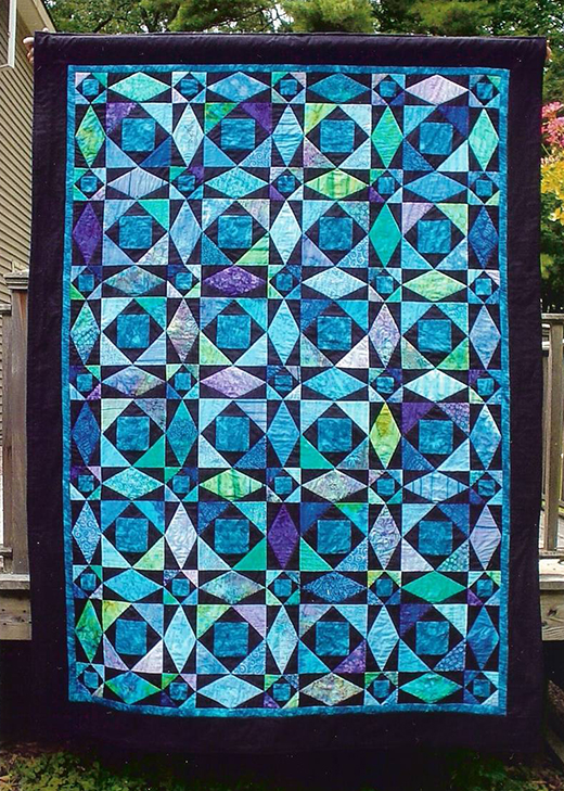 Storm at Sea Quilt Free Pattern Designed by Terry L. Crean of Quilted with TLC
