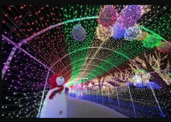 Wisata Malam Taman Pelangi Jogjakarta Melihat Pelangi di Malam Hari