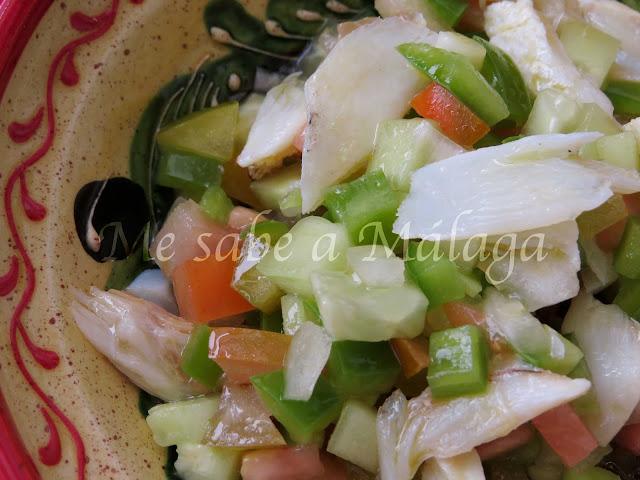 receta tradicional malagueña de bacalao seco en pipirrana