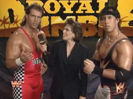 WWF / WWE: Royal Rumble 1995 - Bob Holly and 123 Kid faced Bam Bam Bigelow and Tatanka for the WWF tag team titles