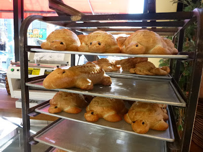 Turtle-shaped sourdough bread at Boudin Bakery in San Francisco