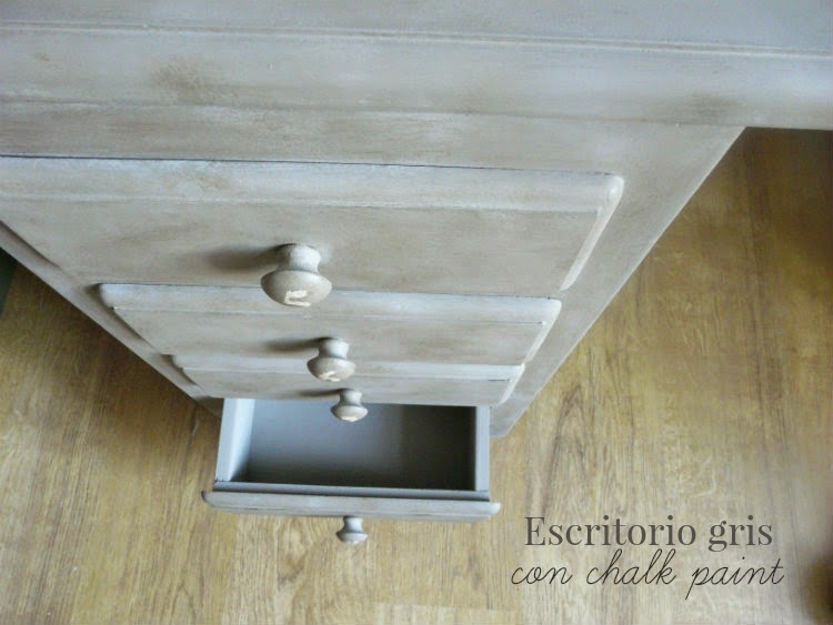ESCRITORIO GRIS CHALK PAINT