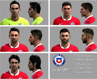 Mini Facepack Chile 2016 Pes 2013