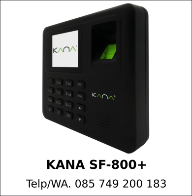 Jual Mesin Fingerprint KANA SF-800+ Asli