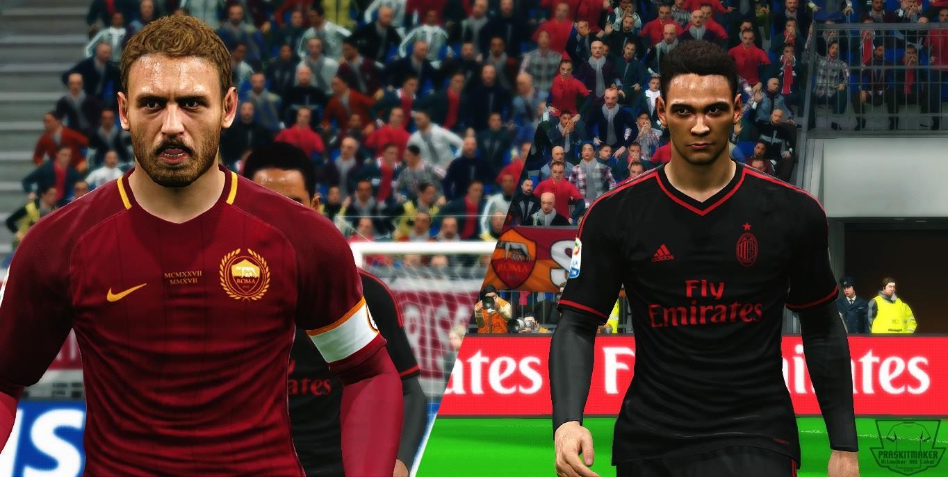 PES-MODIF: PES 2017 AS Roma (90th Anniv) + AC Milan 3rd