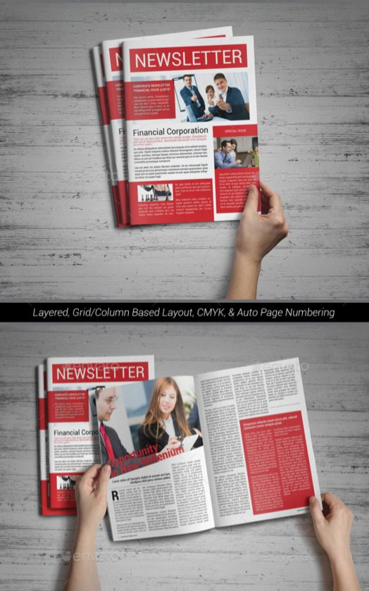 52. Corporate Newsletter Template