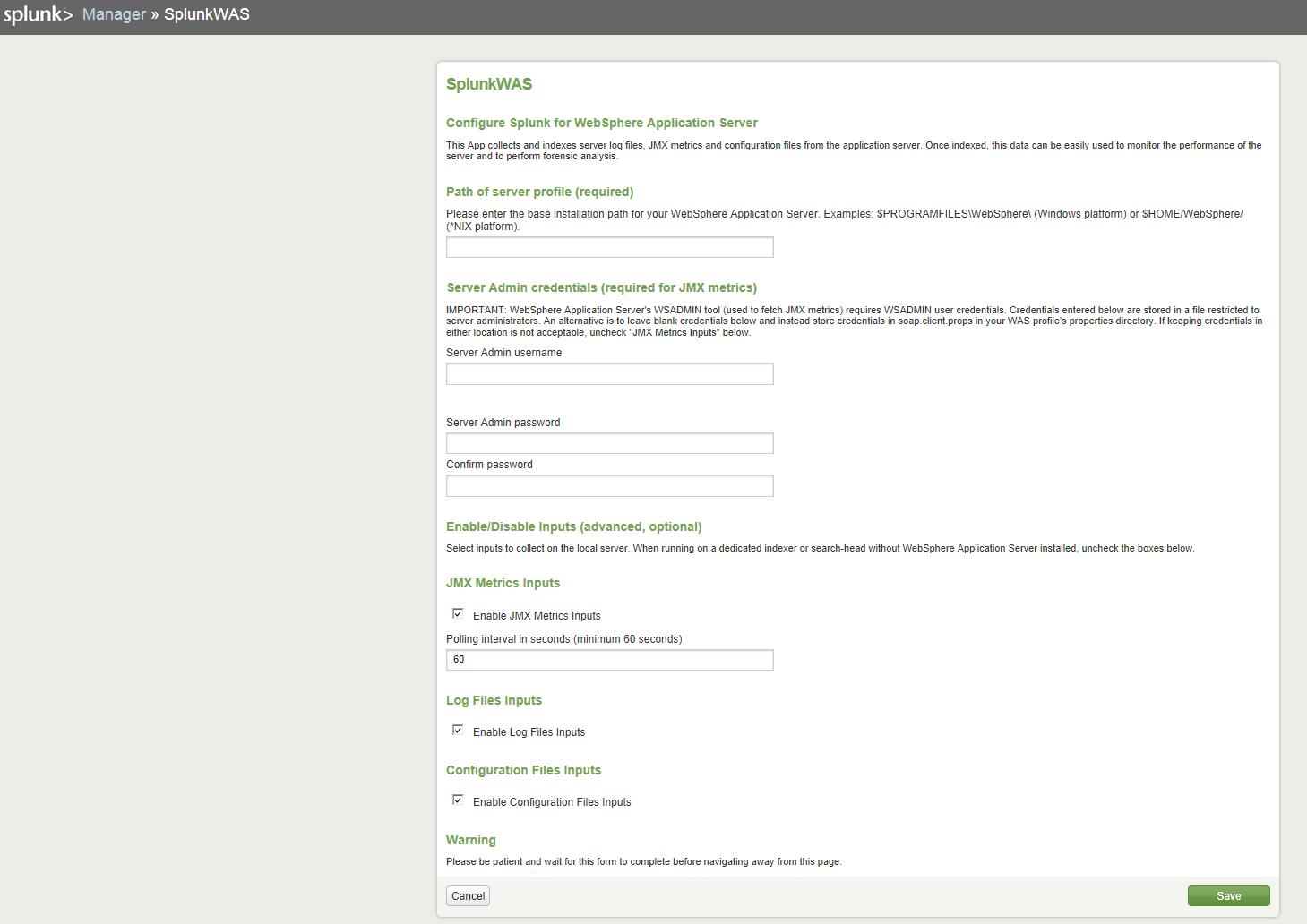Siva R Vaka: Splunk for Websphere Application Server