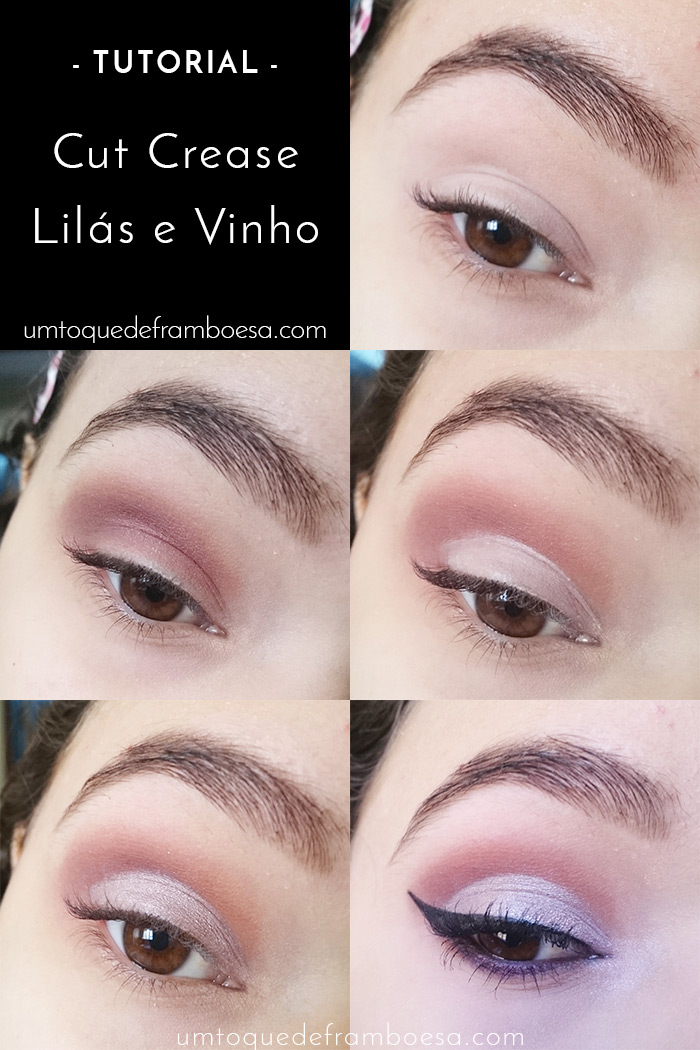 Maquiagem para o dia passo a passo: cut crease lilás e vinho