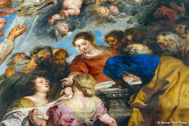 Rubens. Isabel Brant (de rojo) en la Catedral de Nuestra Señora - Amberes por El Guisante Verde Project