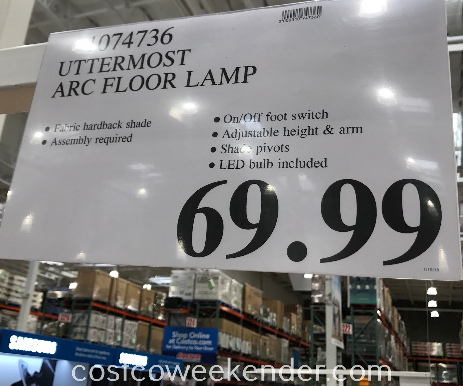 Deal for the Uttermost Arc Floor Lamp at Costco