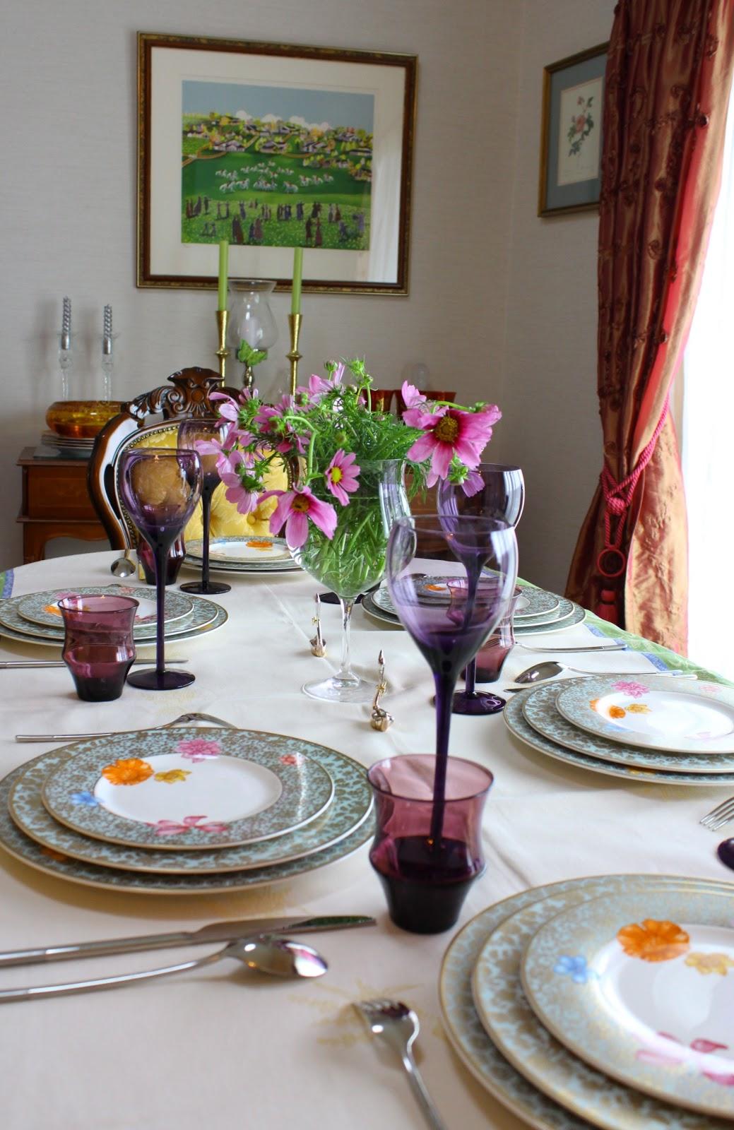 table de france  autumn luncheon table decoration