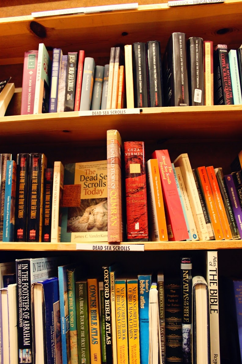 The Dead Sea Scrolls Section at Powell's Books | Land of Honey