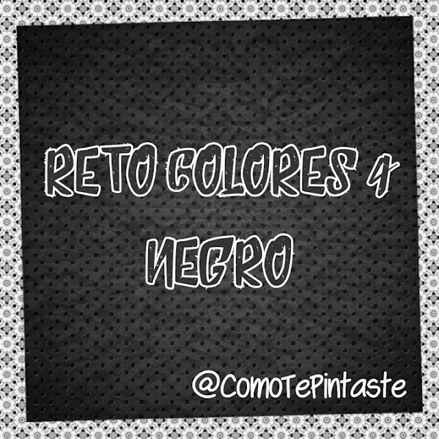 Fondo negro letras blancas reto colores 4 comotepintaste