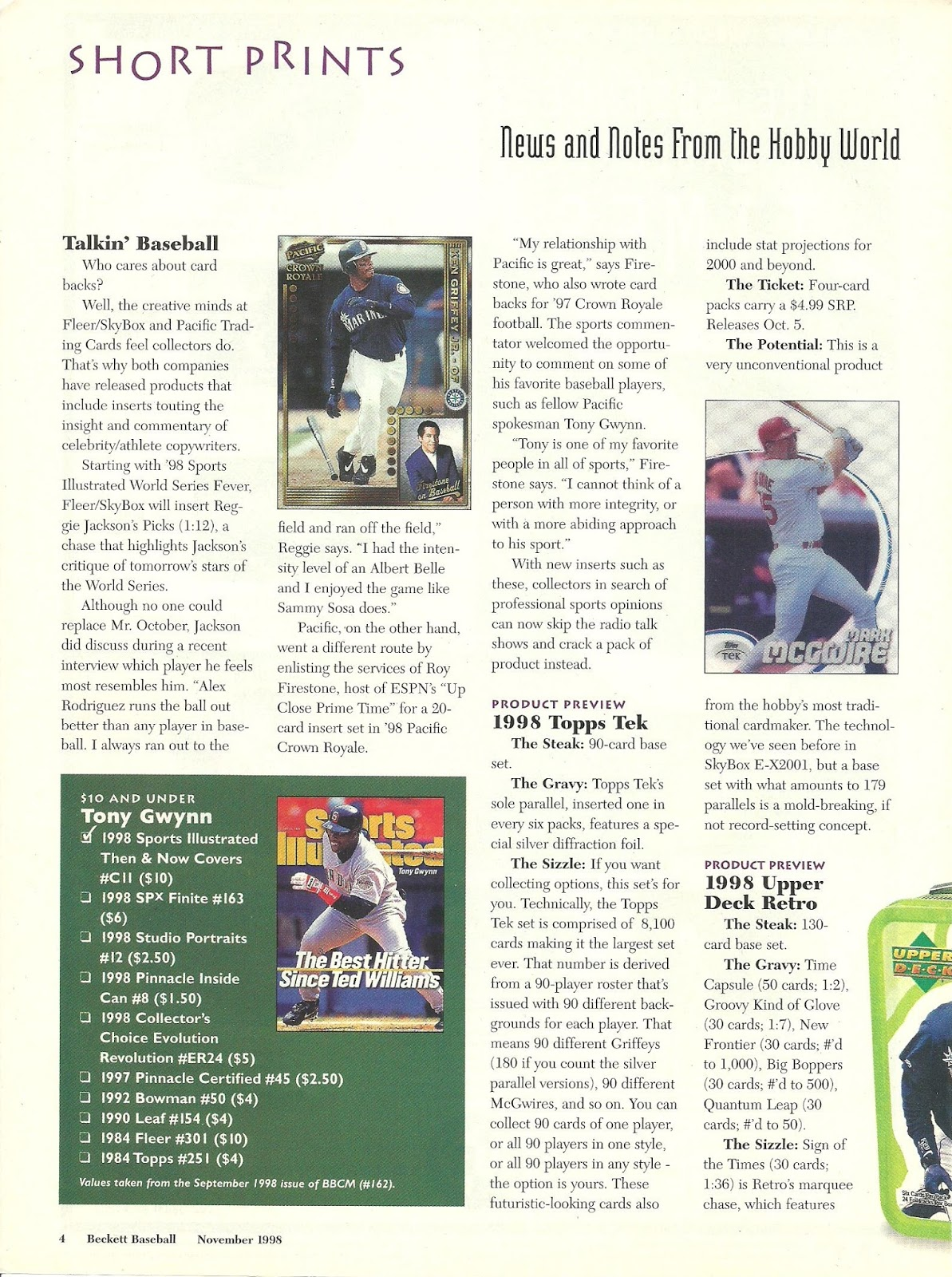 1d0e0fcccb It's like having my own Card Shop: Beckett Baseball Card Monthly ...