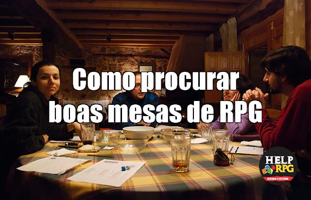 Como procurar boas mesas de RPG