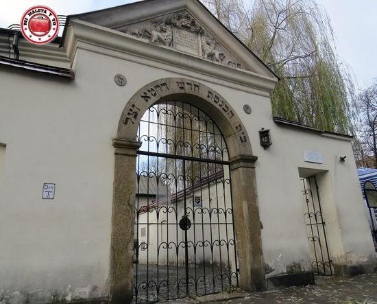 Sinagoga Remu en el barrio judío de Kazimierz, Cracovia