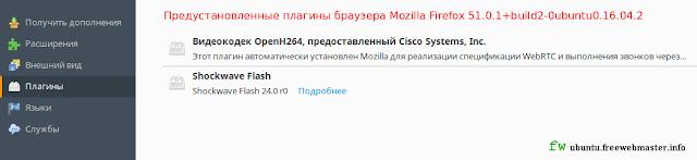 Дополнения браузера Mozilla Firefox