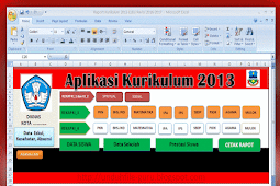 Aplikasi Raport Kurikulum 2013 Kelas 4 SD Revisi 2016-2017