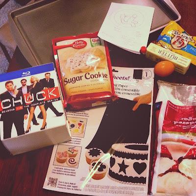 Chuck, baking, nerd herd, food bloggers, TV show