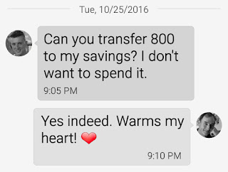 Father Son Savings Text Exchange