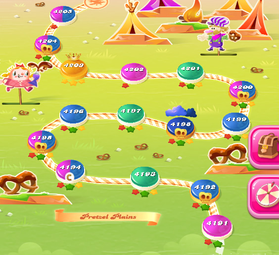 Candy Crush Saga level 4191-4205