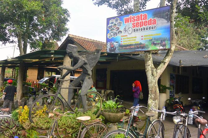 Tempat penyewaan wisata sepeda Borobudur