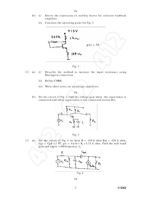 Ec2205 Electronic Circuits I Anna University Question