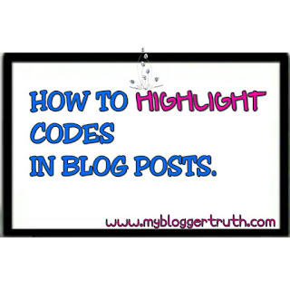 Add Codes to blogger post