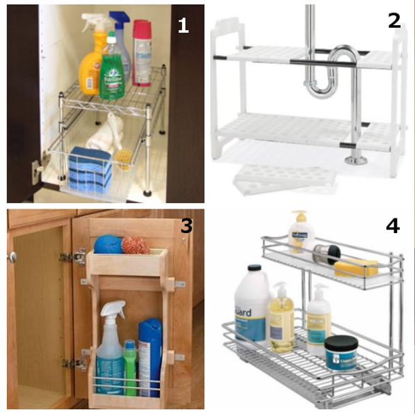 10 Amazing Ideas To Utilize The Space Under The Sink For Storage: DIY Home Sweet Home: Under Sink Storage Solution