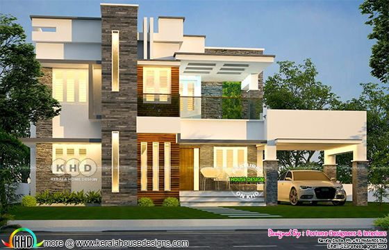 4 bedroom modern house rendering