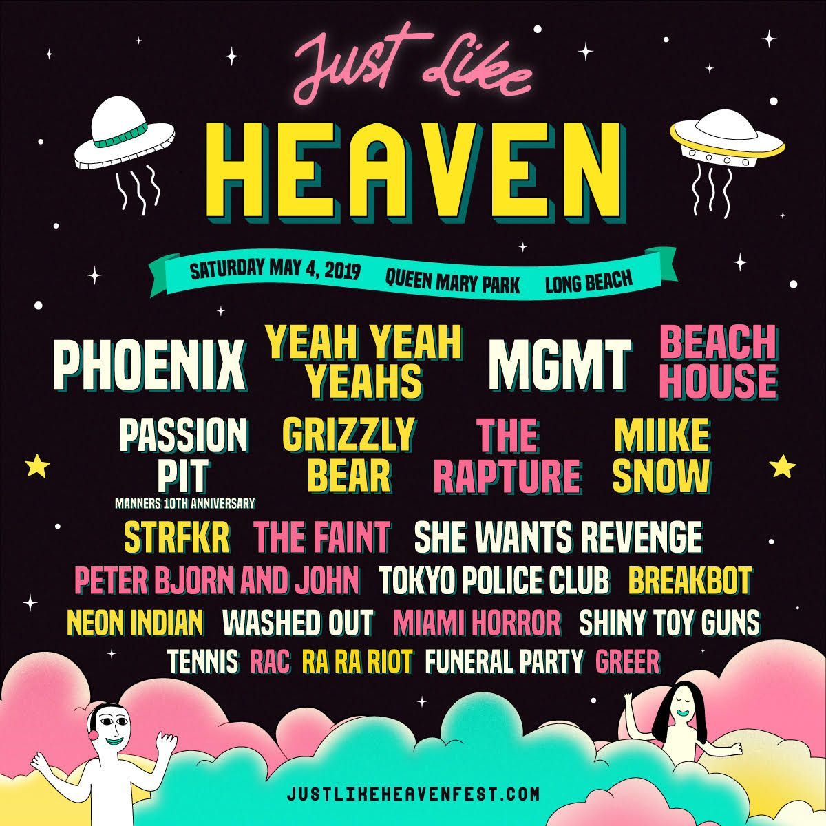 just like heaven 2019 lineup