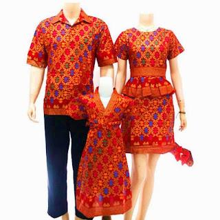 model baju batik sarimbit keluarga modern